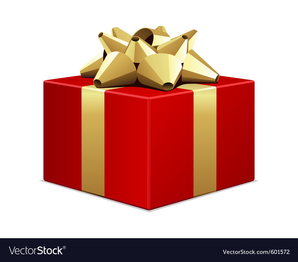 Big red gift box vector   Price: 1 Credit (USD $1)