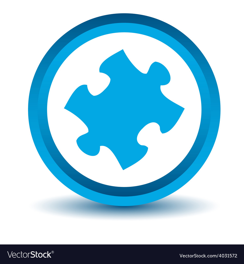 Blue puzzle icon vector | Price: 1 Credit (USD $1)