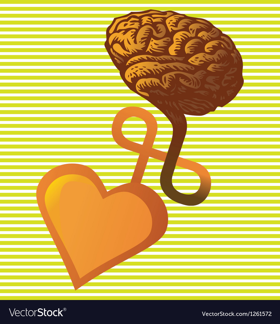 Connection between heart and brain vector | Price: 1 Credit (USD $1)
