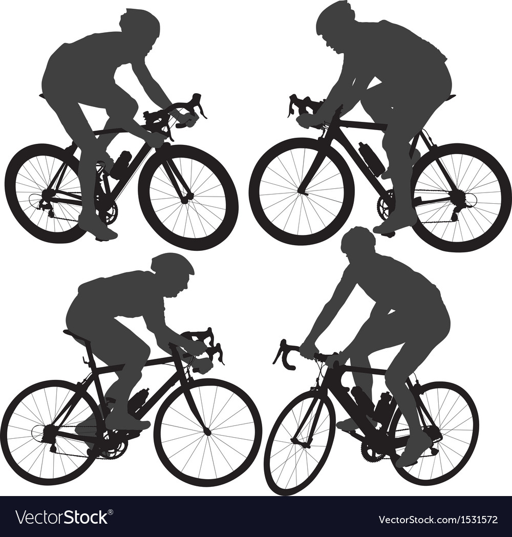 Cycling silhouette vector | Price: 1 Credit (USD $1)