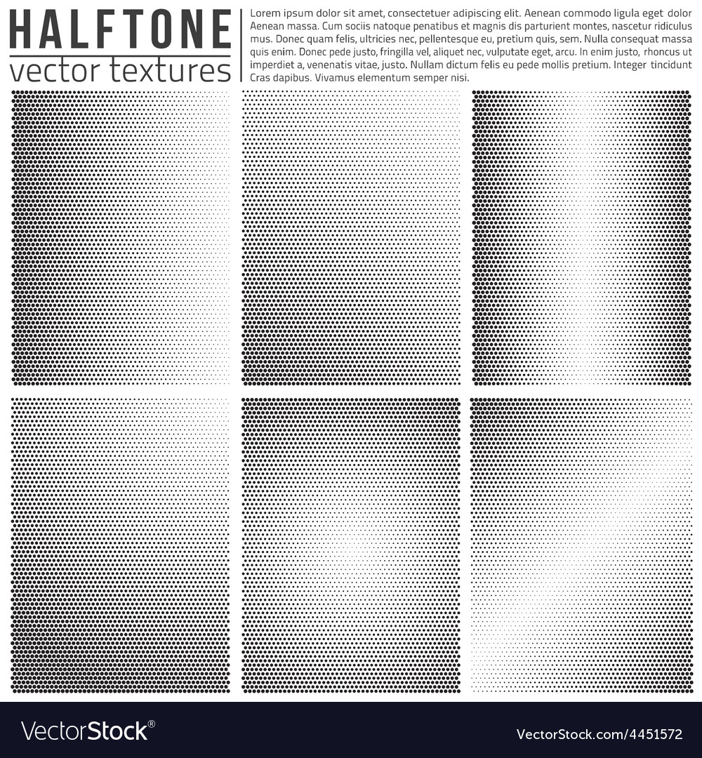 Halftone textures vector | Price: 1 Credit (USD $1)