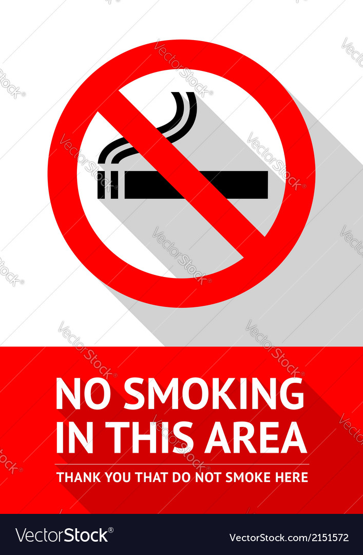 No smoking sticker flat design vector | Price: 1 Credit (USD $1)