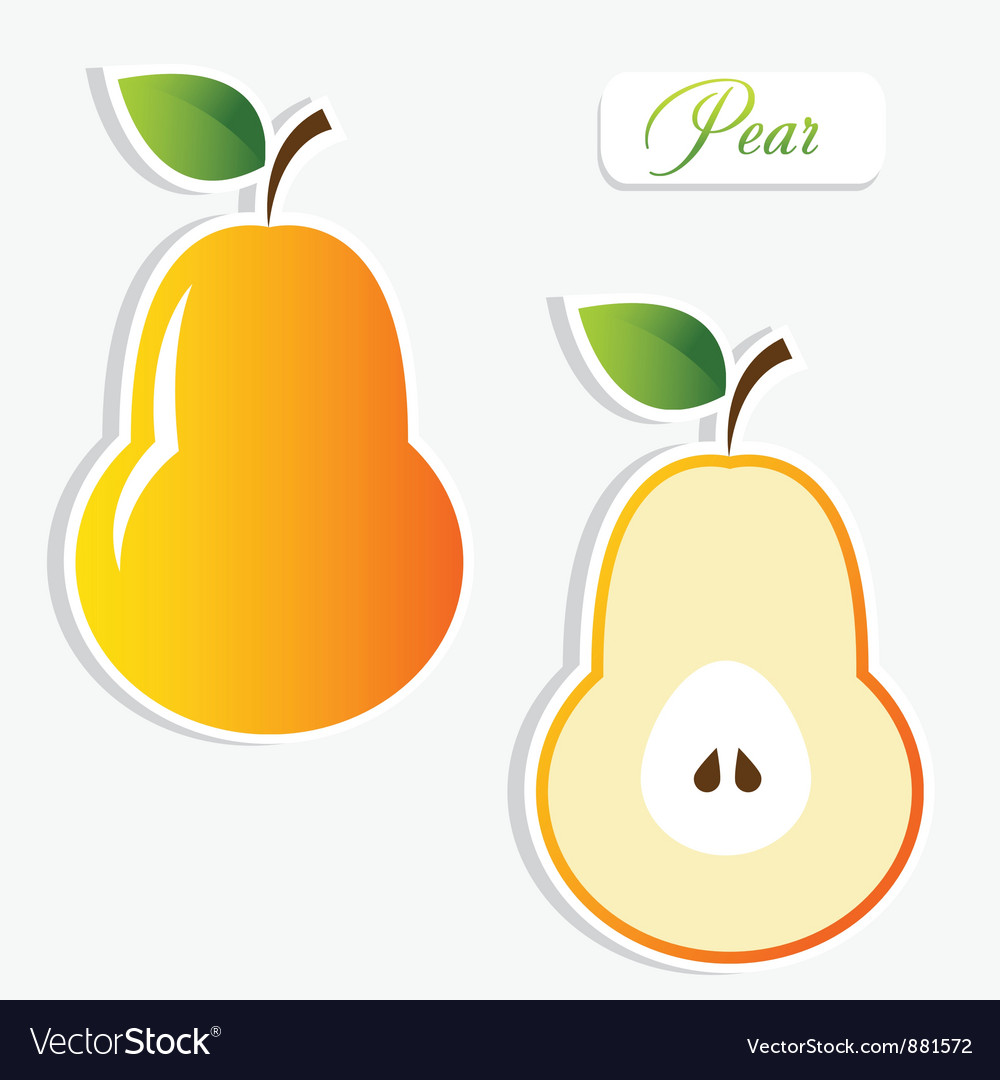 Pear stickers vector | Price: 1 Credit (USD $1)