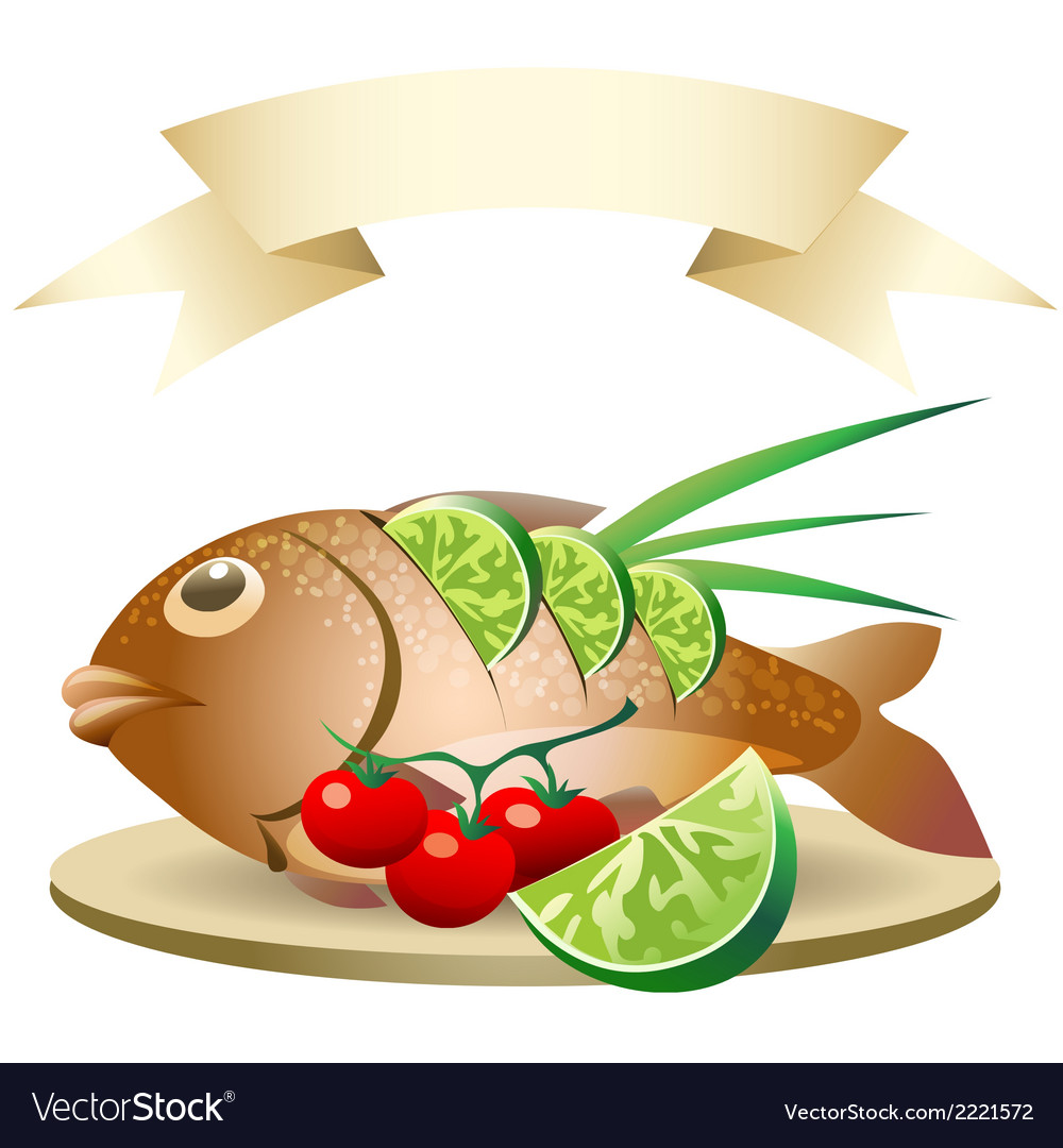 Prepared fish vector | Price: 1 Credit (USD $1)