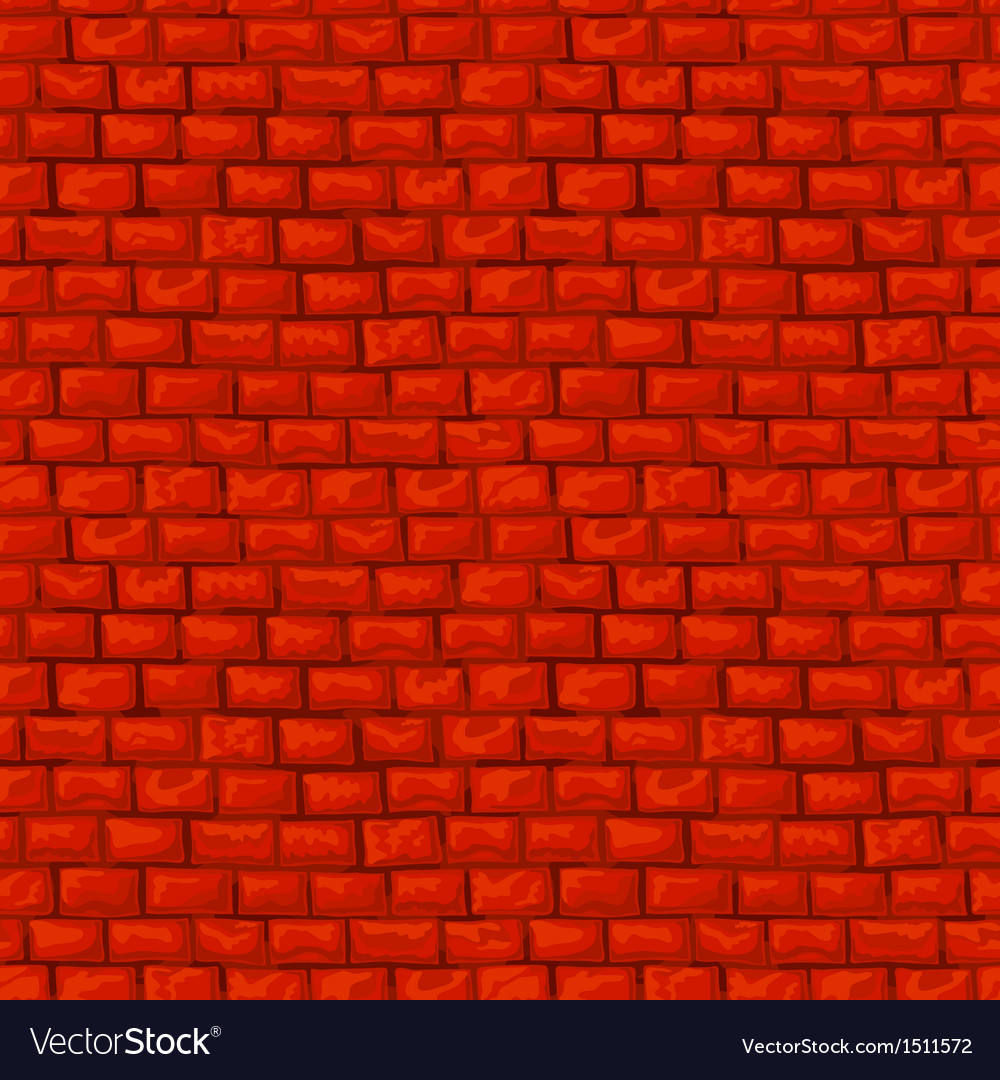 Red brickwork seamless pattern vector | Price: 1 Credit (USD $1)