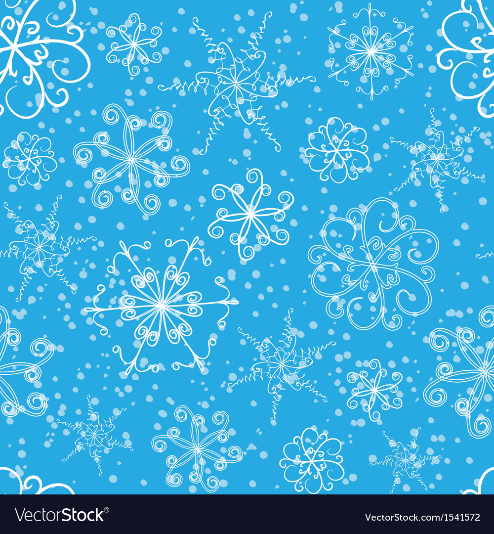 Snowflakes seamless pattern vector | Price: 1 Credit (USD $1)