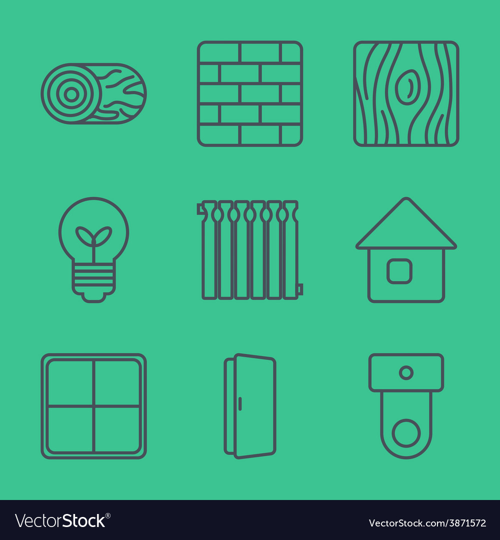 Thin line icons set vector | Price: 1 Credit (USD $1)