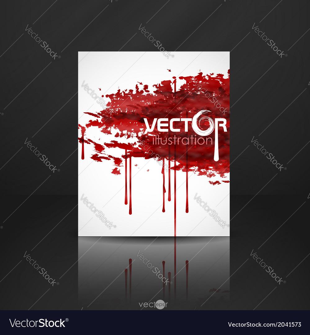 Bloody watercolor spots vector | Price: 1 Credit (USD $1)