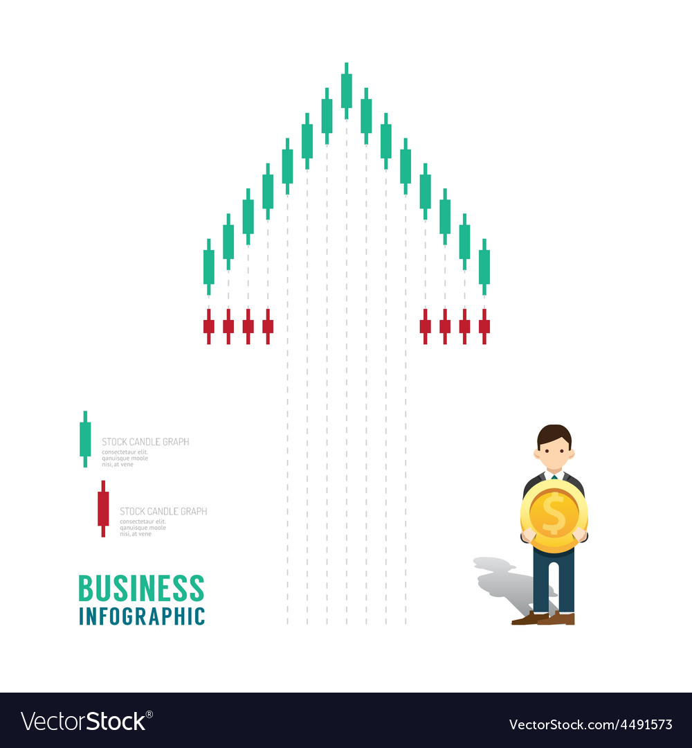 Business infographic stock candle chart graph vector | Price: 1 Credit (USD $1)