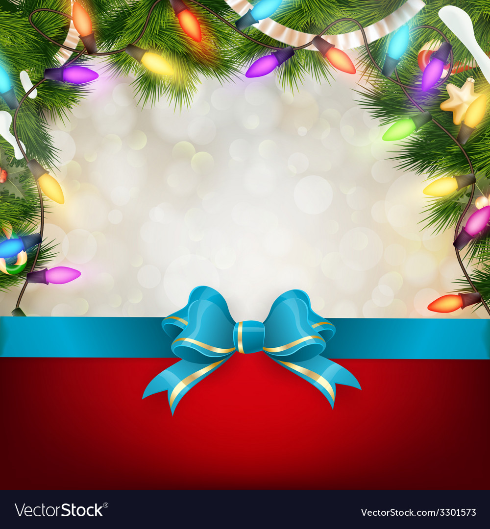 Christmas background with fir twigs eps 10 vector | Price: 1 Credit (USD $1)