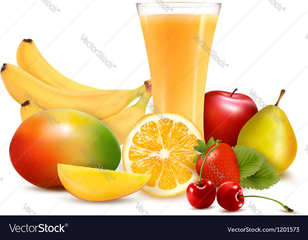 Fresh fruit and juice vector | Price: 3 Credit (USD $3)