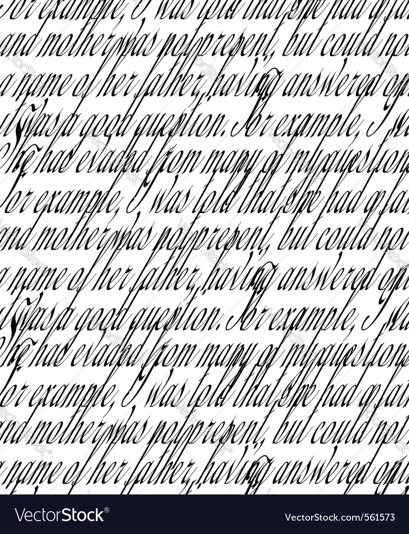 Handwritten text vector | Price: 1 Credit (USD $1)