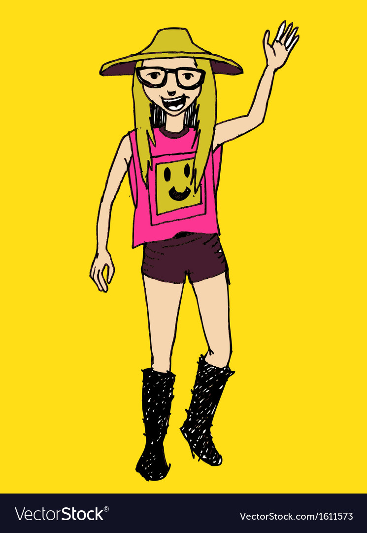 Hipster character people in vector   Price: 1 Credit (USD $1)