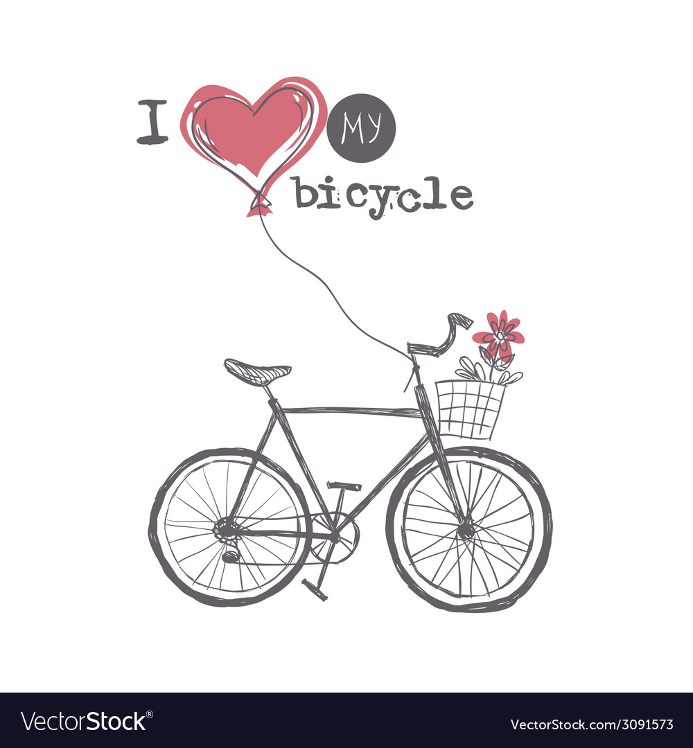 I love my bicycle vector   Price: 1 Credit (USD $1)