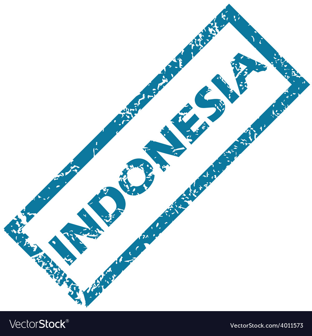 Indonesia rubber stamp vector | Price: 1 Credit (USD $1)