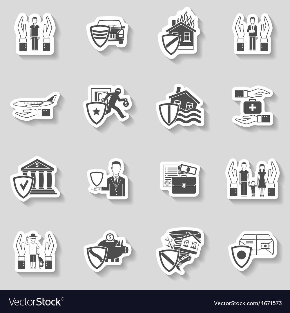 Insurance sticker set vector | Price: 1 Credit (USD $1)