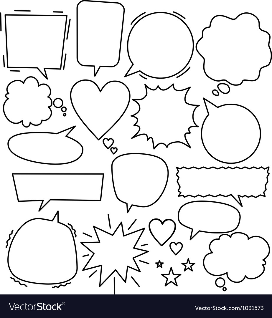 Lineart dialog bubbles vector | Price: 1 Credit (USD $1)