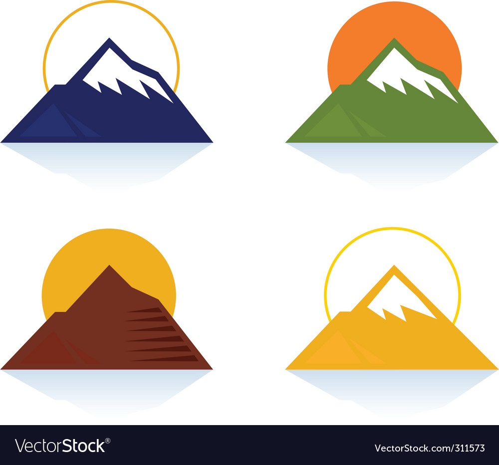 Mountain and tourist icons vector | Price: 1 Credit (USD $1)