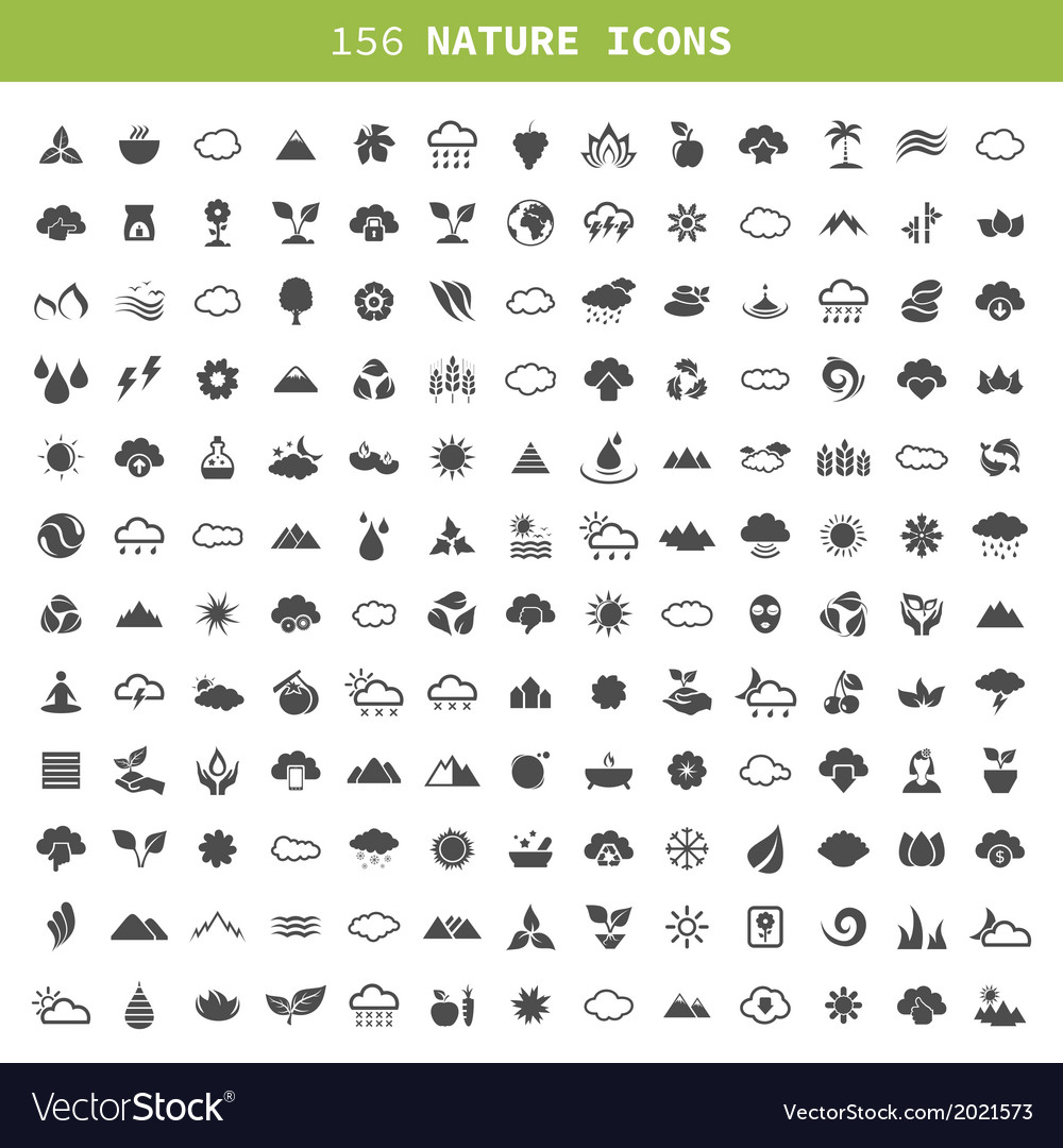 Nature an icon vector | Price: 1 Credit (USD $1)