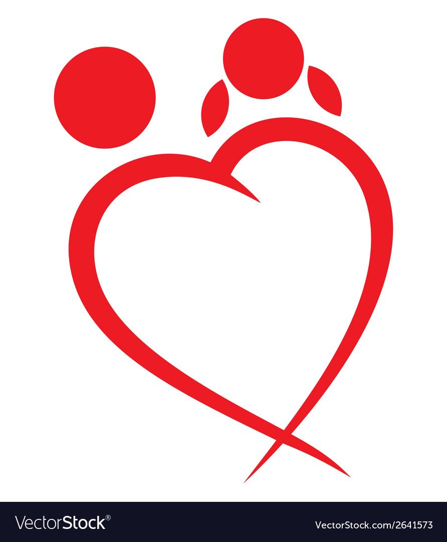 Srce linija zaljubljeni vector | Price: 1 Credit (USD $1)