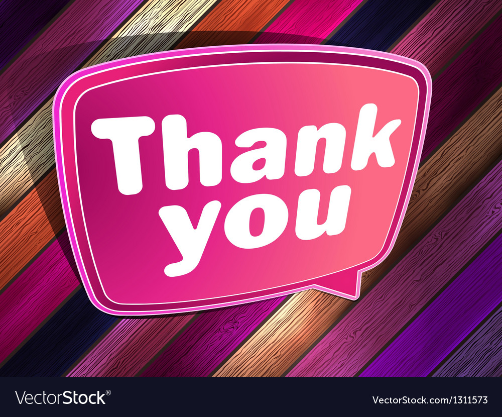 Thank you poster on a wooden eps 10 vector | Price: 1 Credit (USD $1)