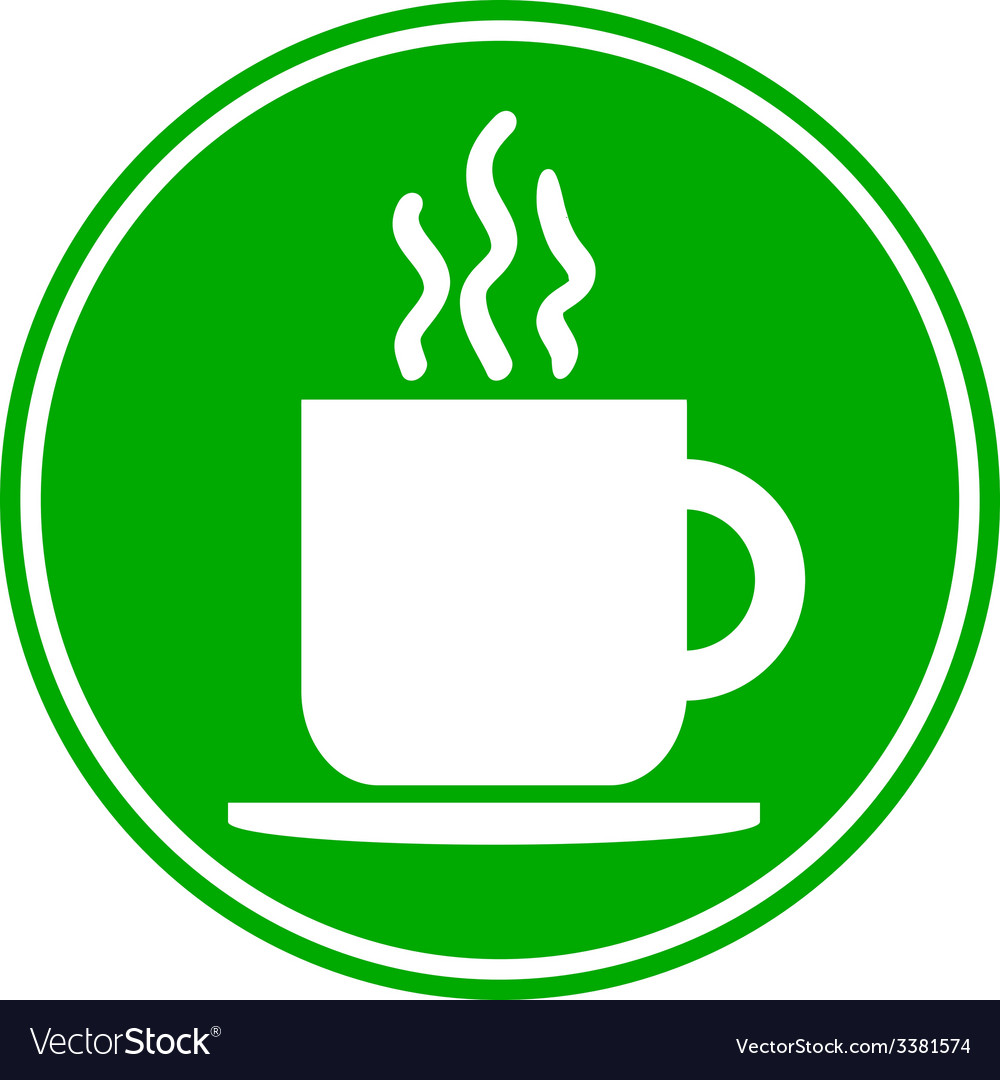 Coffee cup button vector | Price: 1 Credit (USD $1)