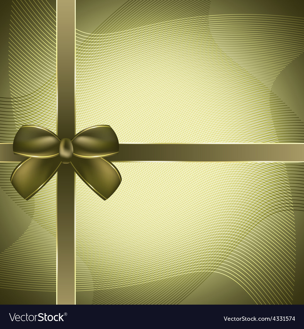 Cover of the present box green background vector | Price: 1 Credit (USD $1)