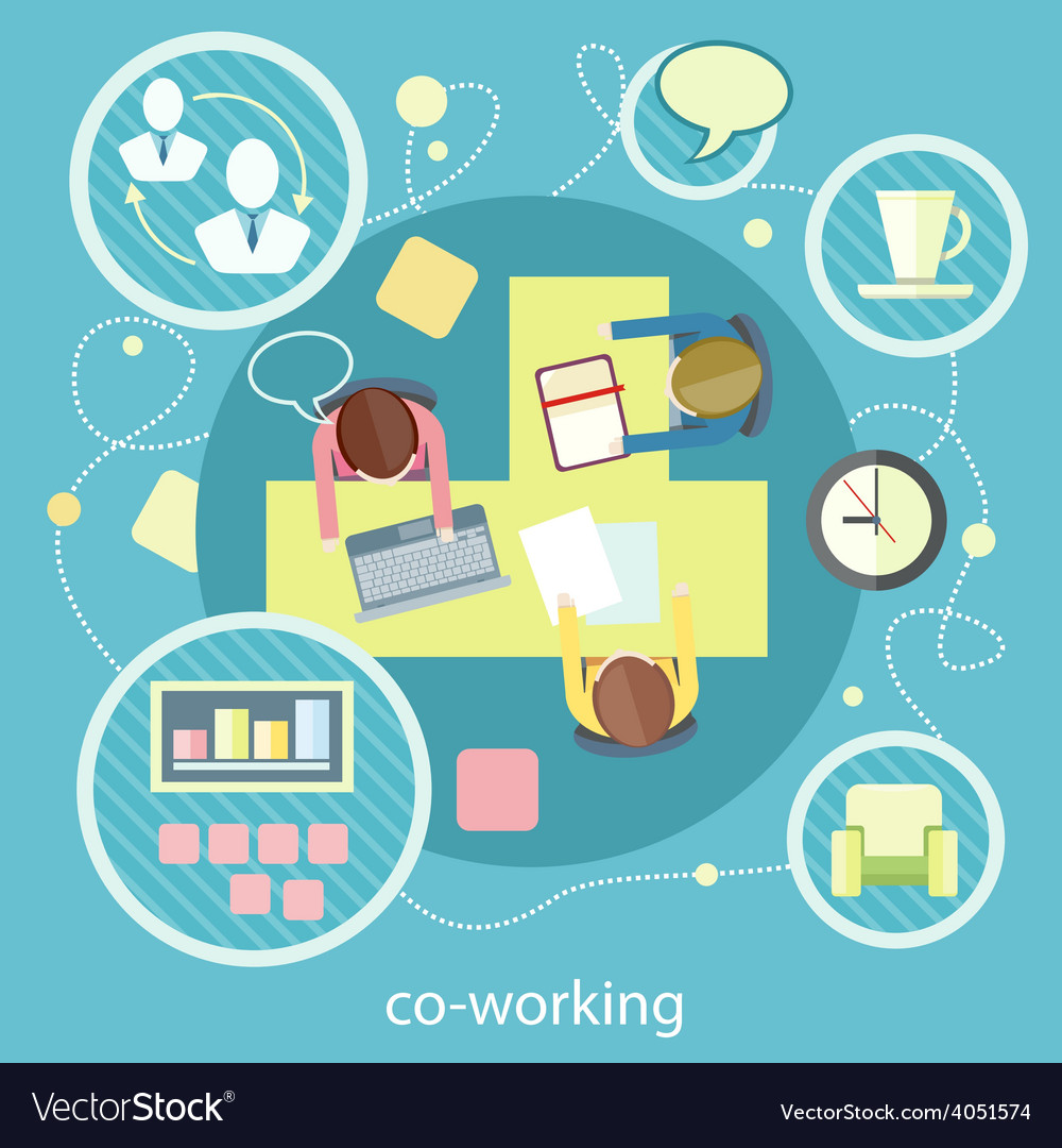Coworking concept business meeting vector | Price: 1 Credit (USD $1)