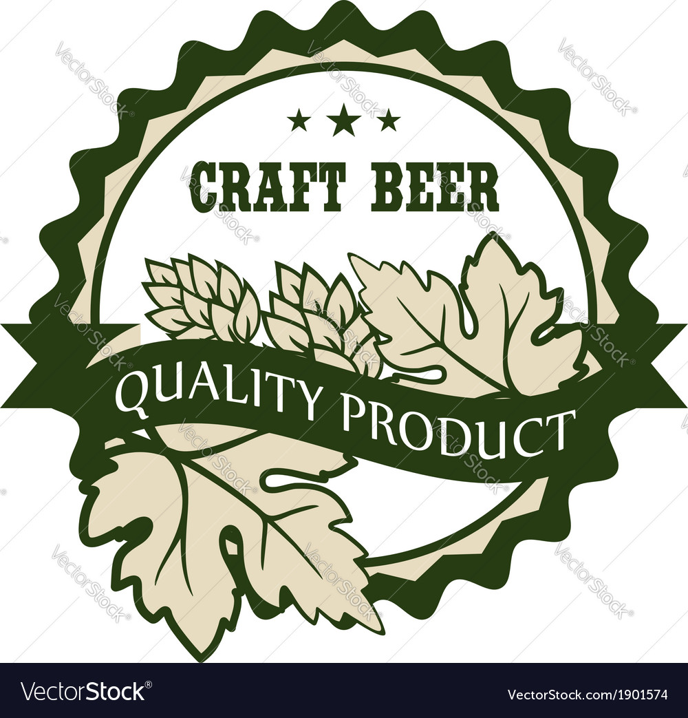 Craft beer design label for a premium product vector | Price: 1 Credit (USD $1)