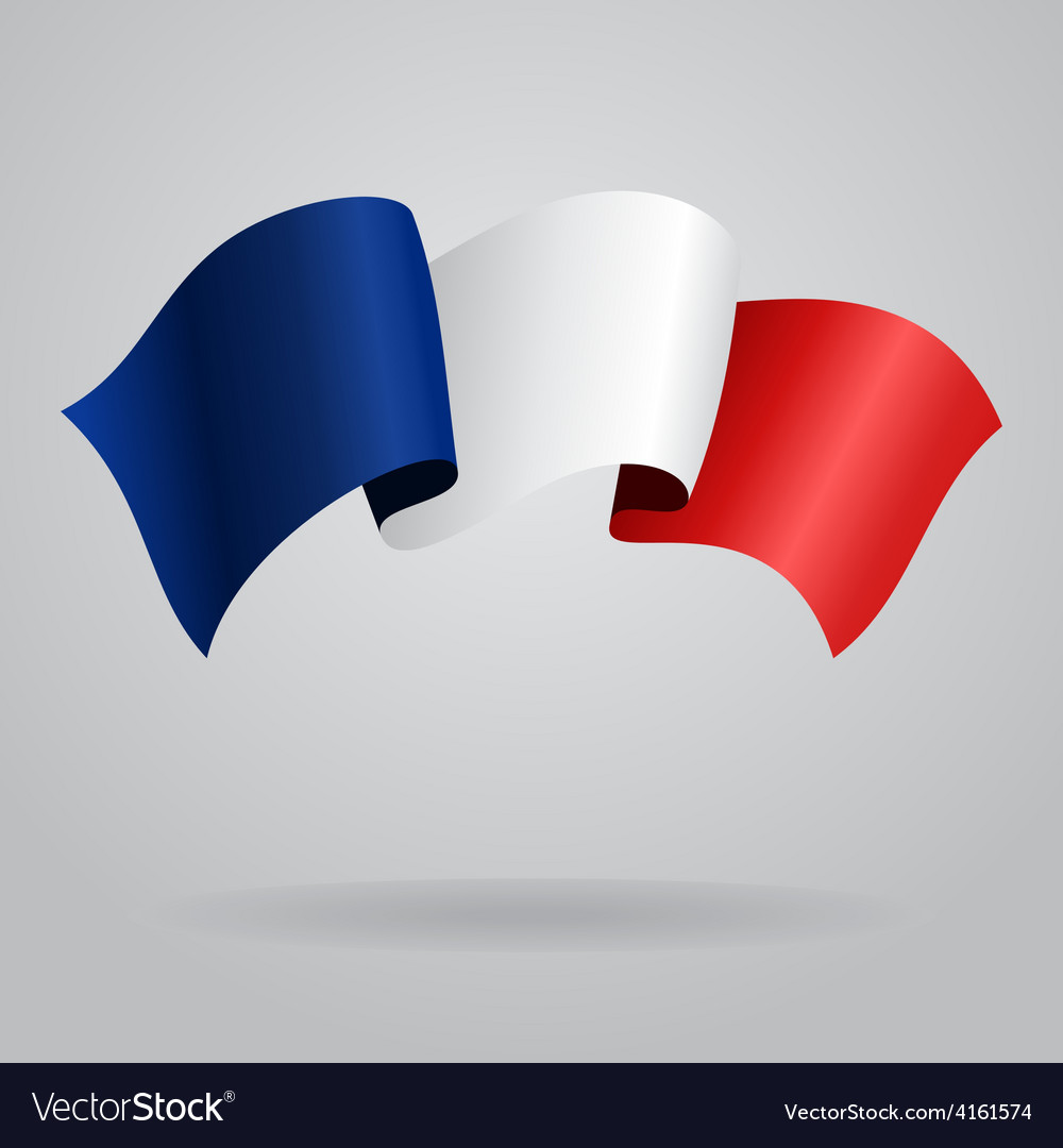 French waving flag vector | Price: 3 Credit (USD $3)