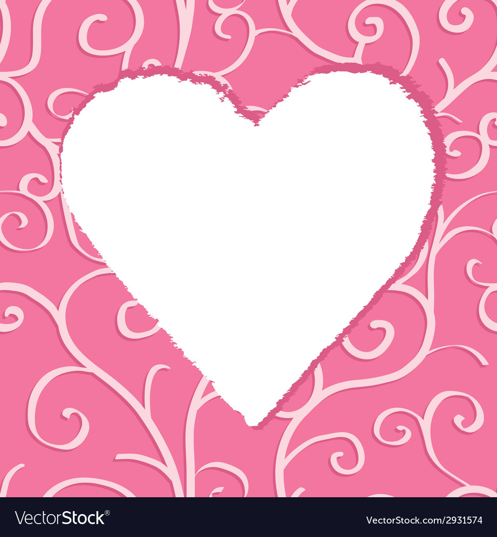Greeting card template with heart vector | Price: 1 Credit (USD $1)