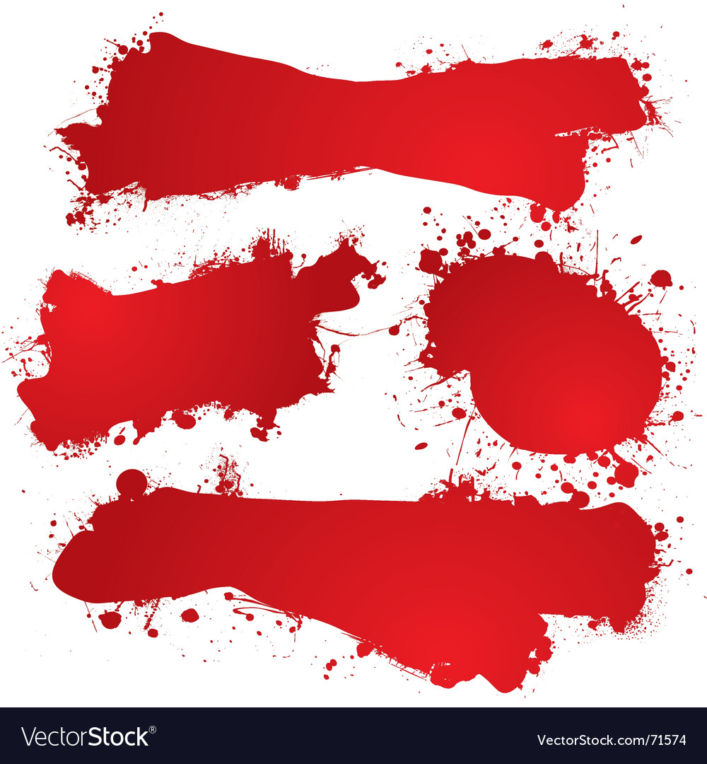 Ink splat blood vector | Price: 1 Credit (USD $1)