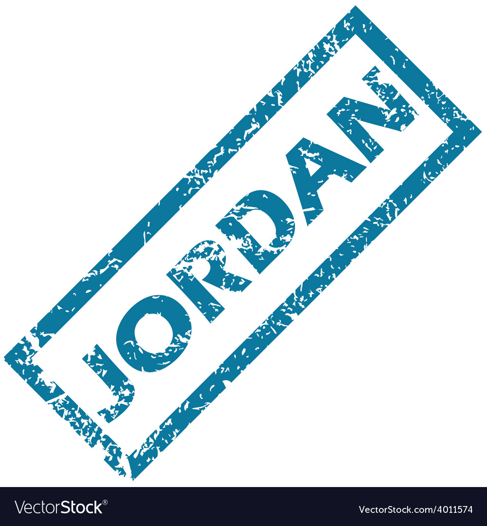 Jordan rubber stamp vector | Price: 1 Credit (USD $1)