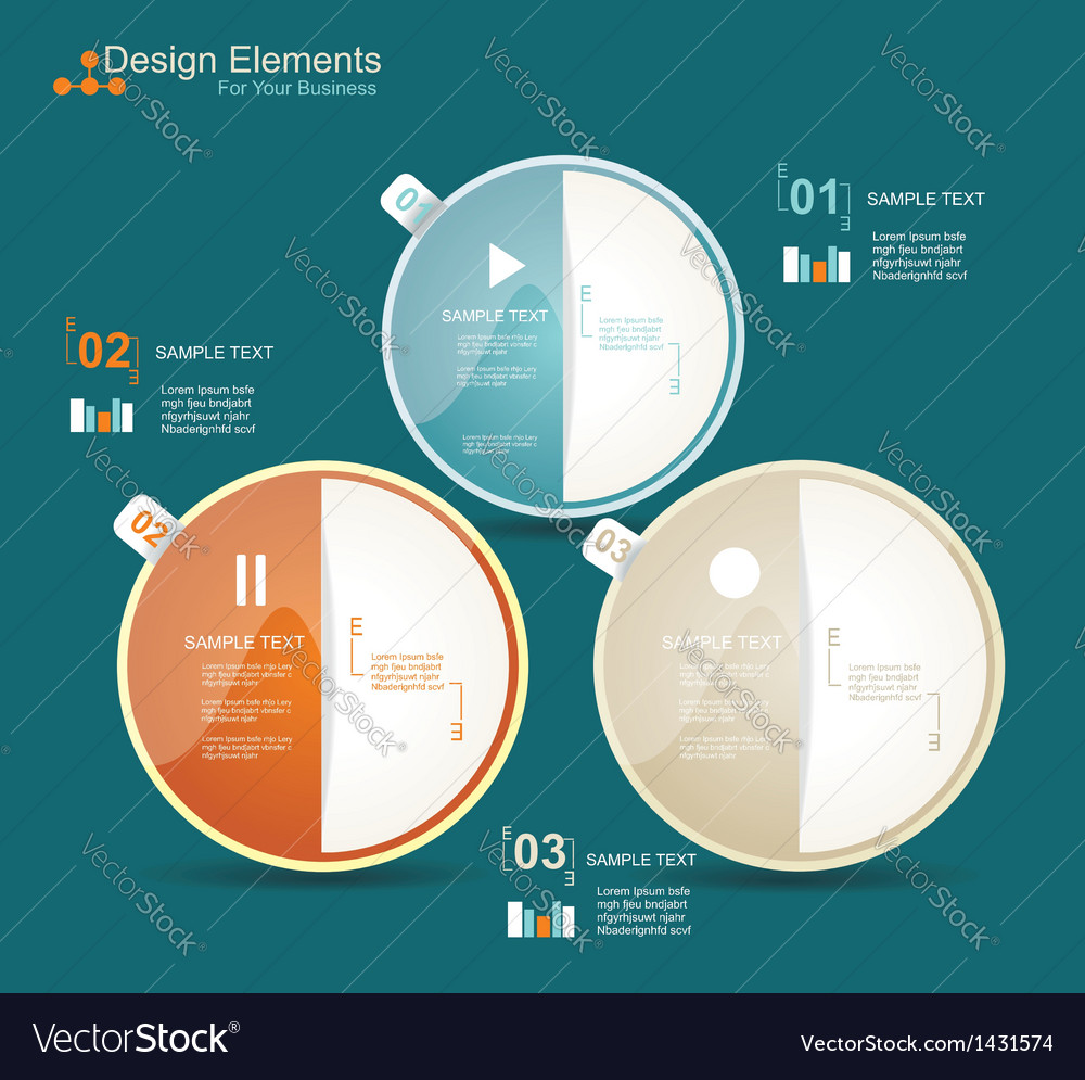 Modern business circle style options banner vector | Price: 1 Credit (USD $1)