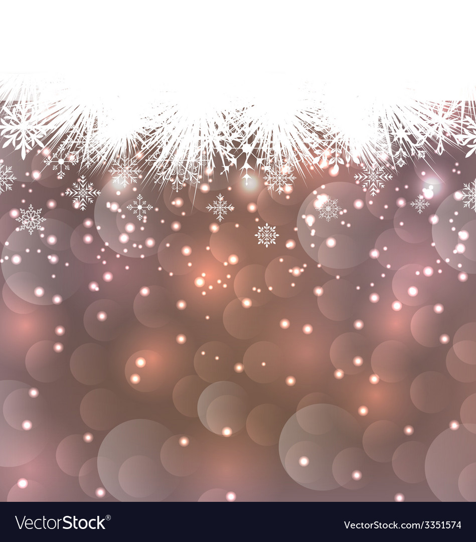 New year background made in snowflakes copy space vector | Price: 1 Credit (USD $1)