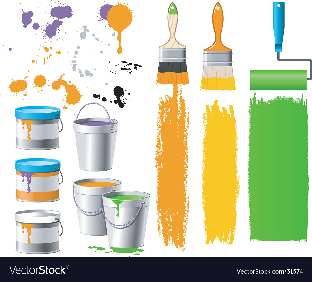 Paint bucket vector | Price: 3 Credit (USD $3)