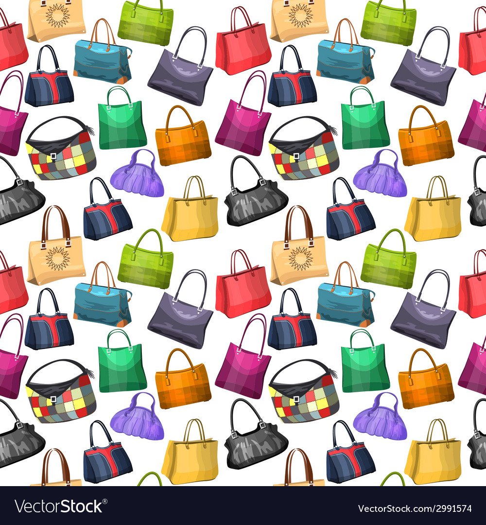 Seamless pattern with womens bags vector | Price: 1 Credit (USD $1)