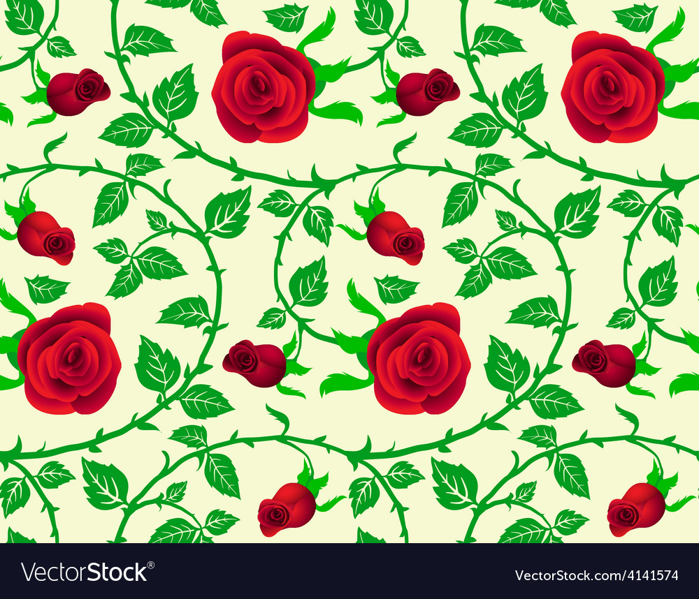 Seamless texture floral theme vector | Price: 1 Credit (USD $1)