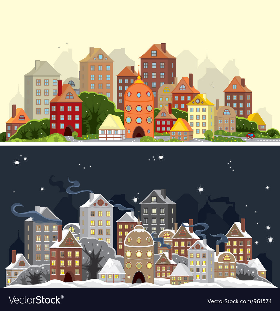Town season vector | Price: 3 Credit (USD $3)