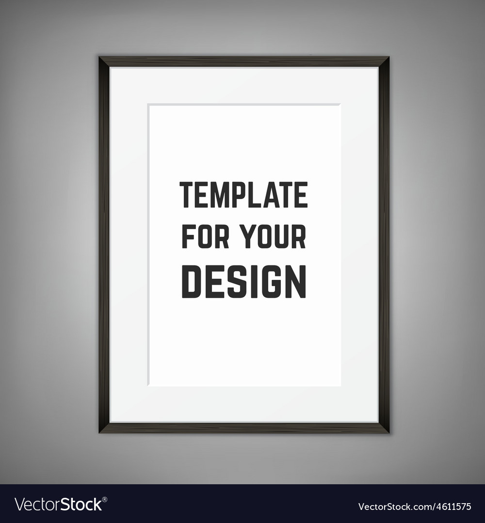 Blank framed poster on a wall template vector | Price: 1 Credit (USD $1)