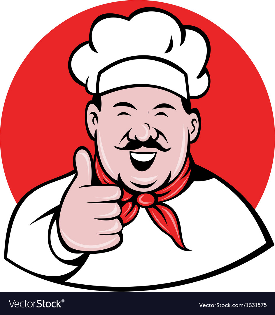 Chef cook baker thumbs up vector | Price: 1 Credit (USD $1)