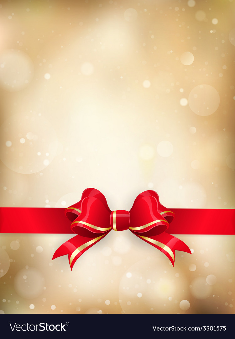 Christmas decoration - red ribbon eps 10 vector   Price: 1 Credit (USD $1)