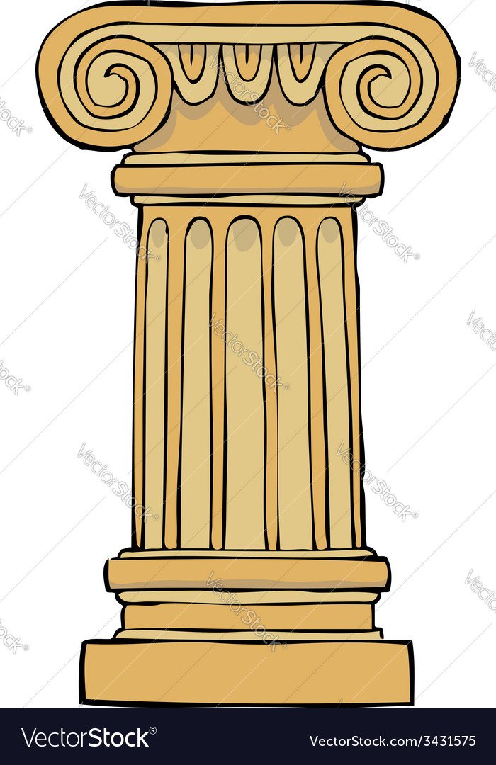 Column pedestal vector | Price: 1 Credit (USD $1)