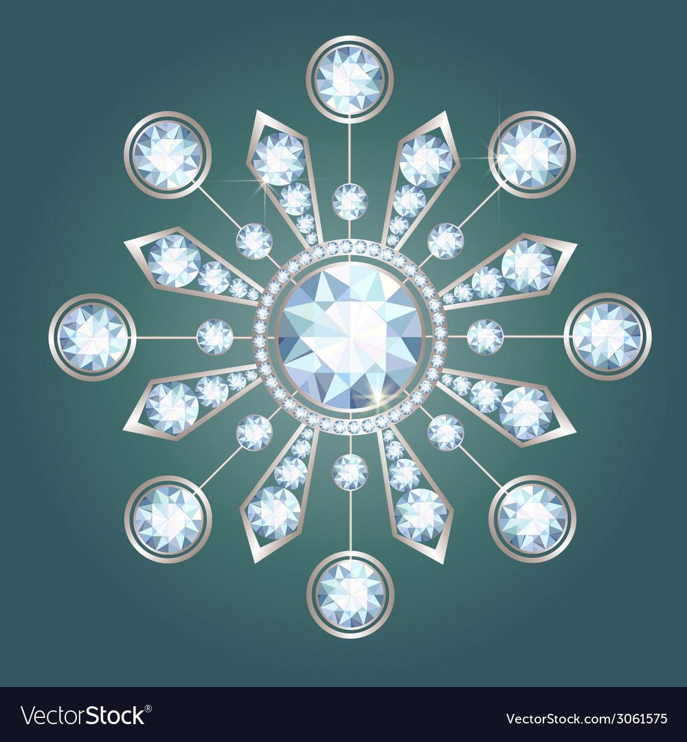 Diamond brooch vector | Price: 1 Credit (USD $1)