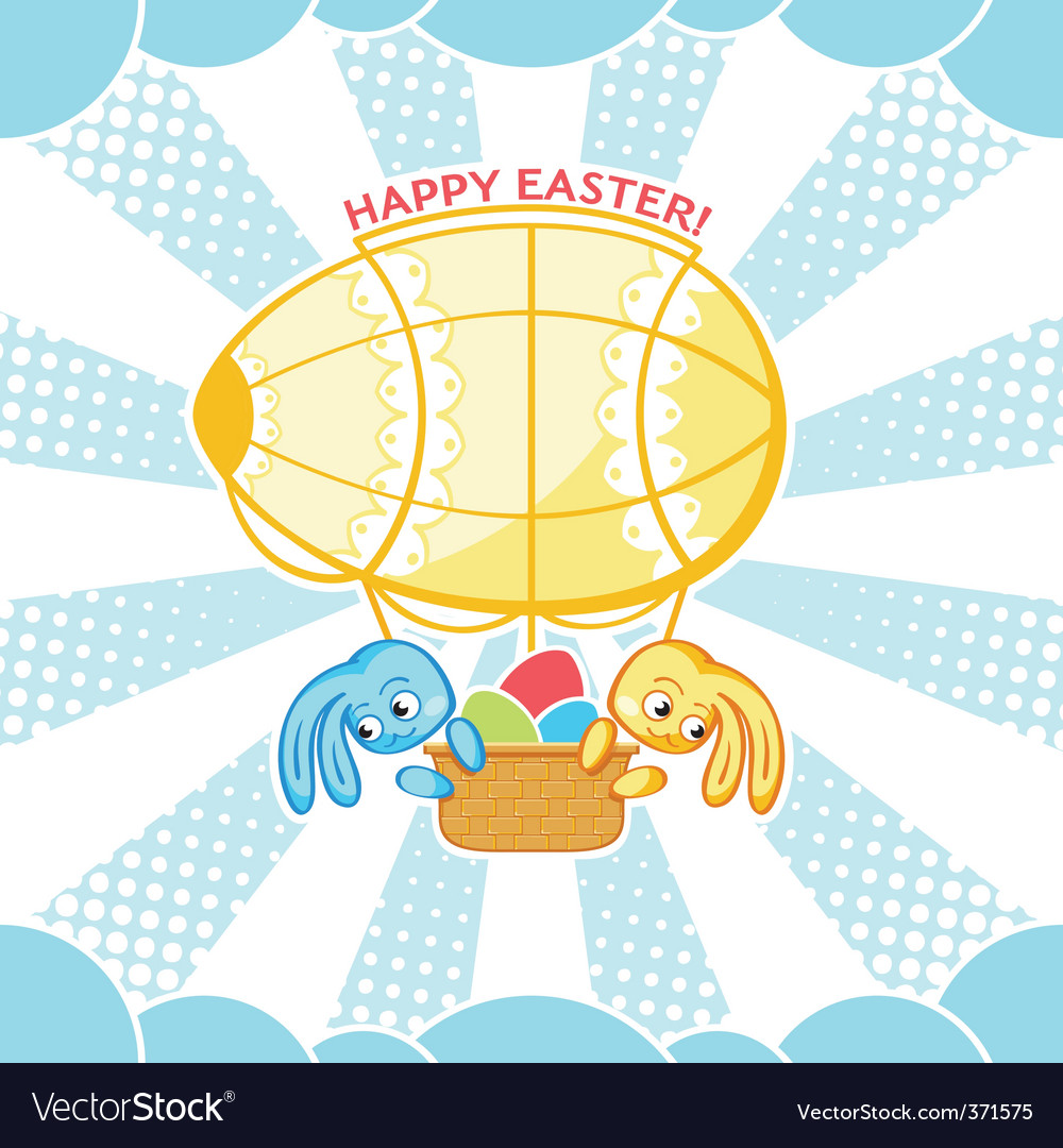 Easter airship vector | Price: 1 Credit (USD $1)