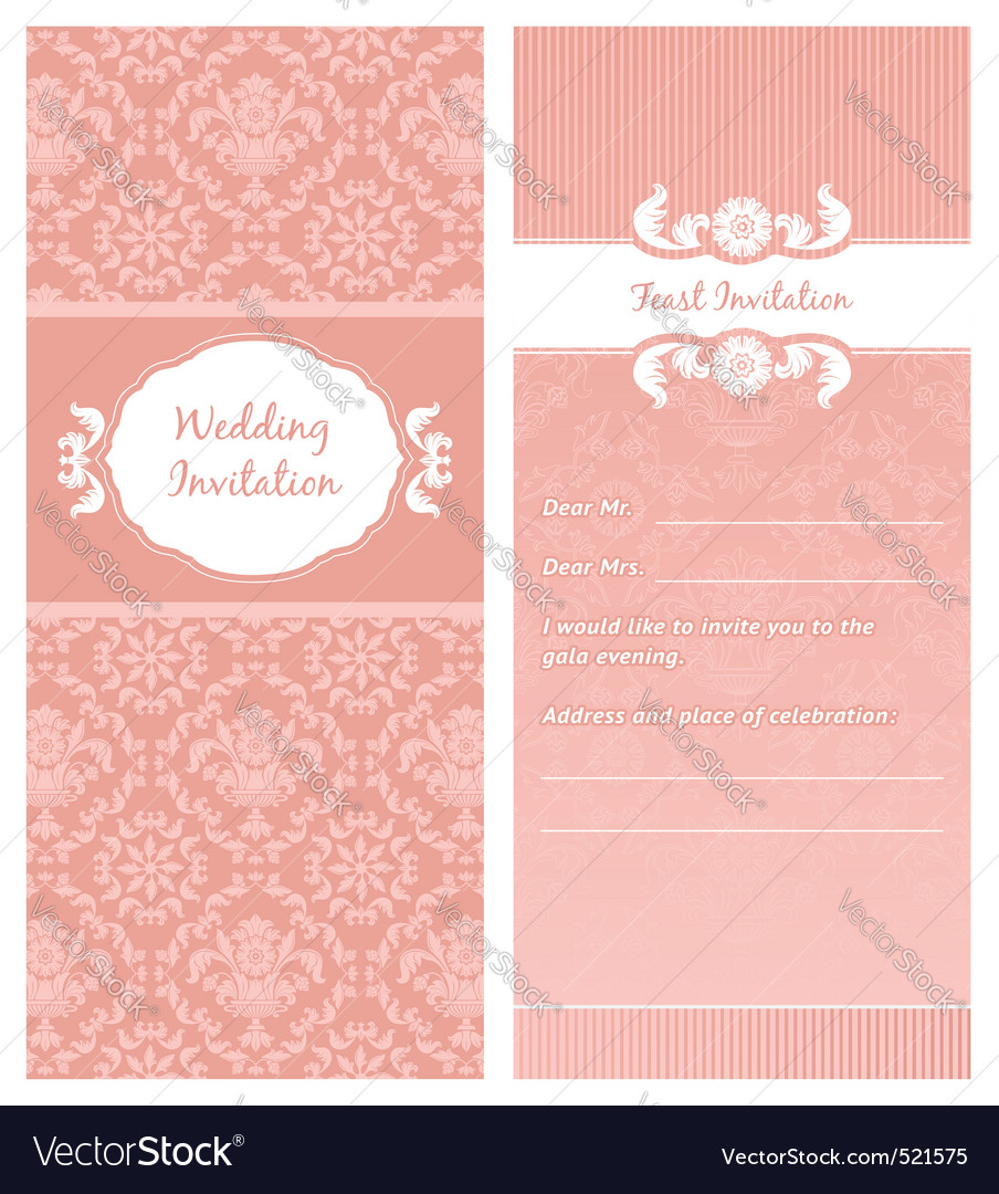 Feastinvitation template vector