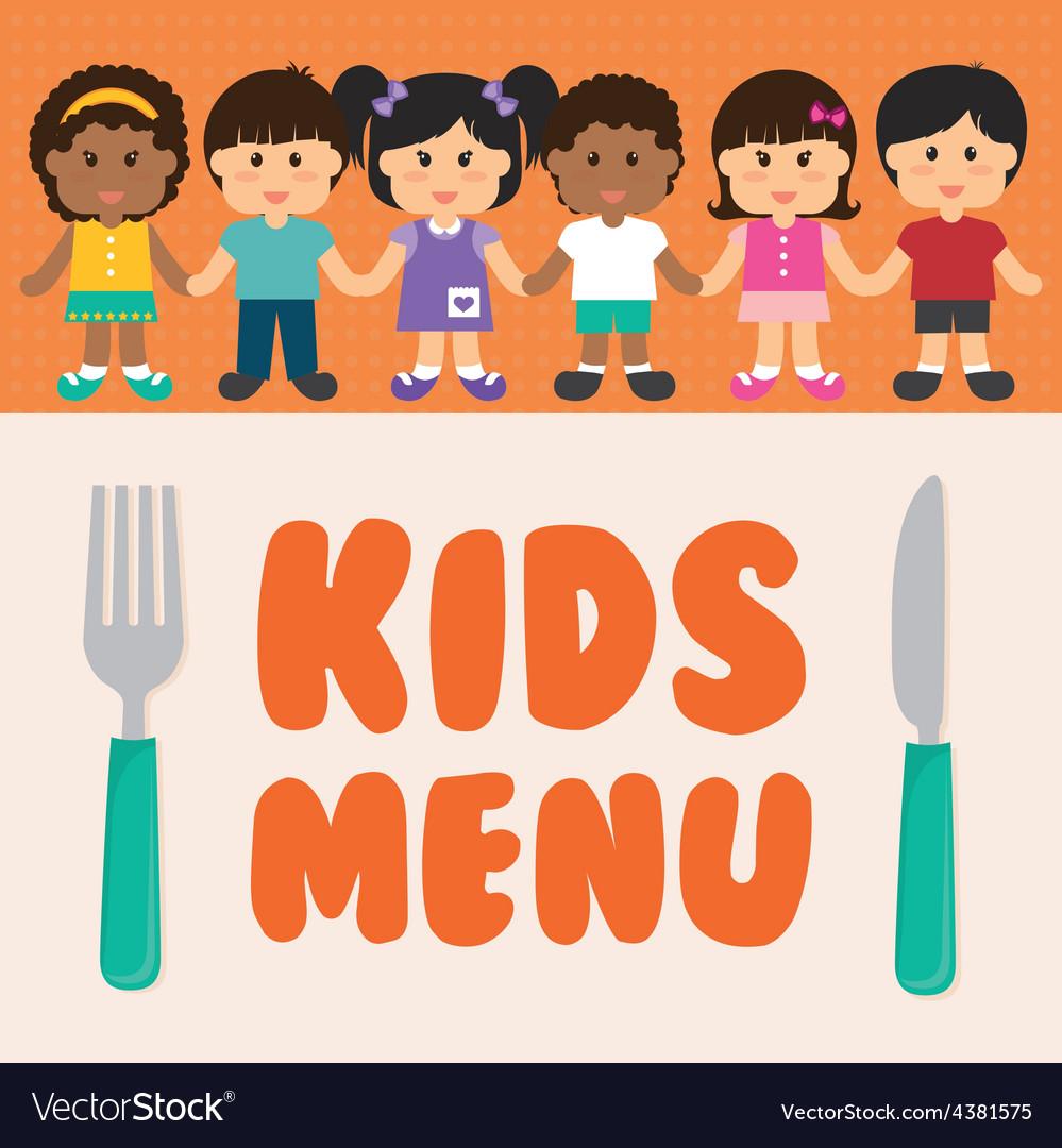 Kids menu design vector | Price: 1 Credit (USD $1)