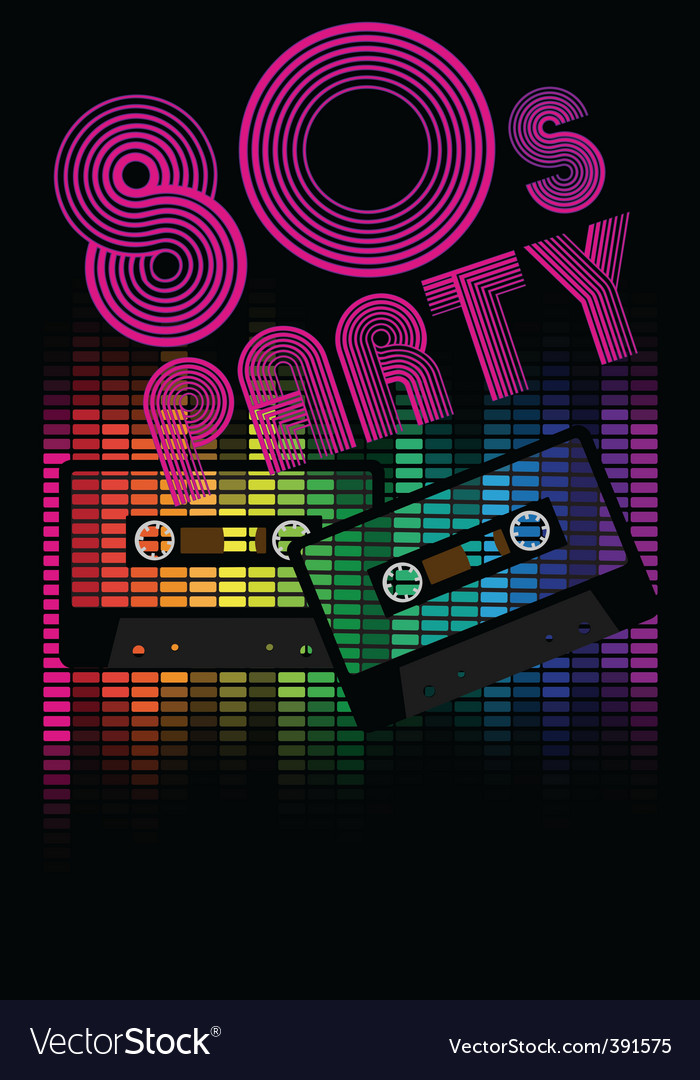 Retro party background vector | Price: 1 Credit (USD $1)