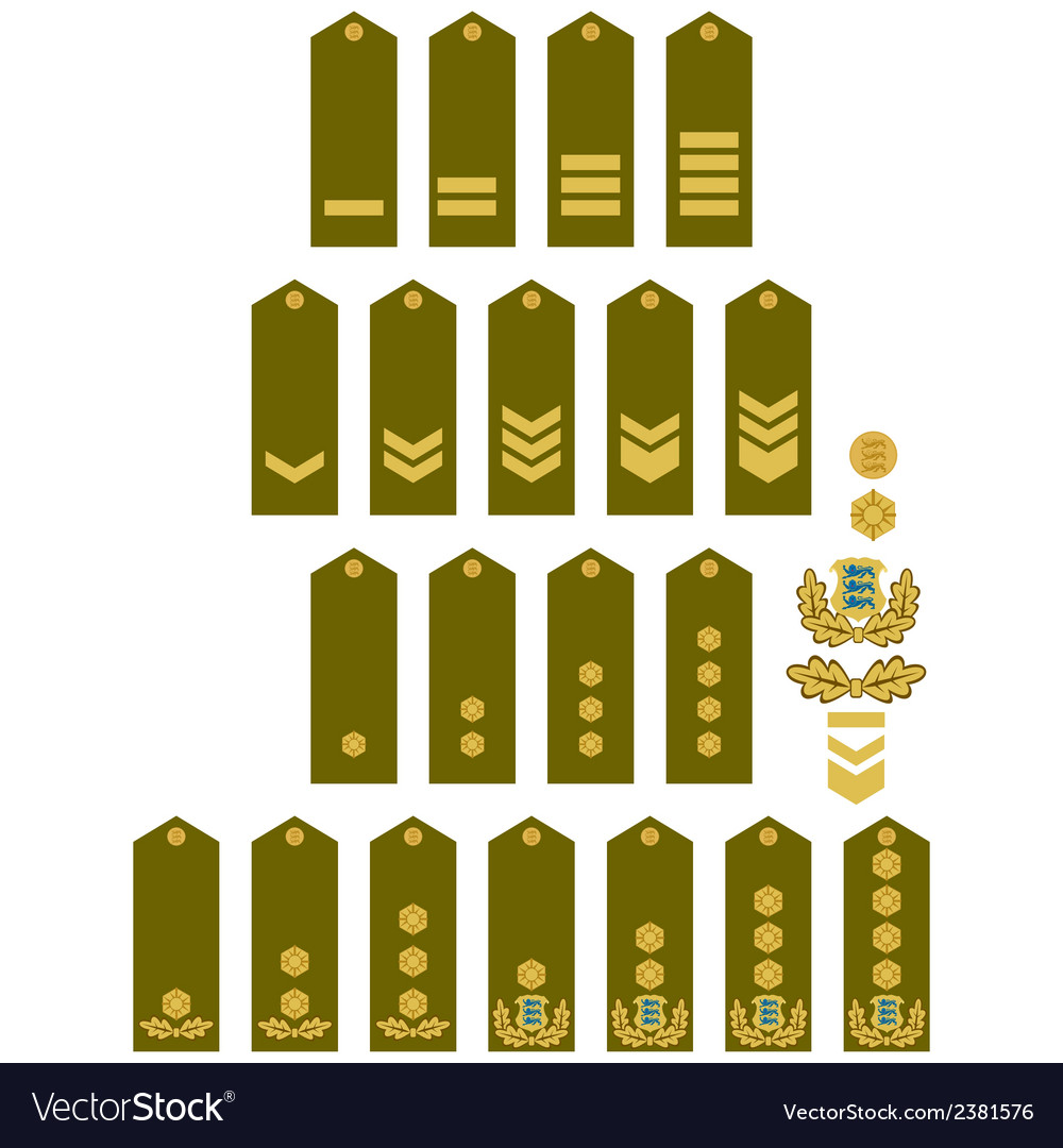 Armed forces insignia estonia vector | Price: 1 Credit (USD $1)