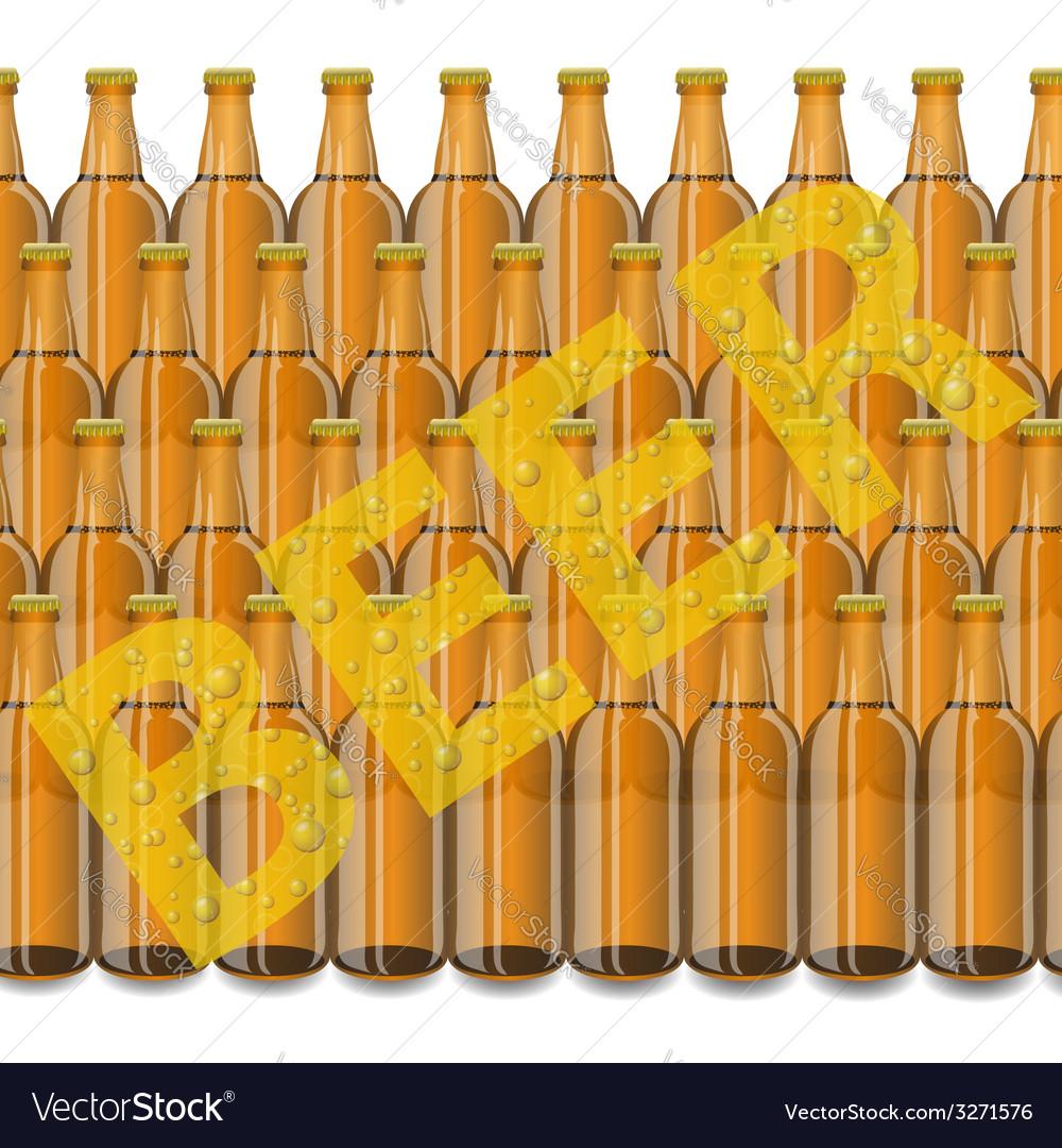 Beer bottles vector | Price: 1 Credit (USD $1)